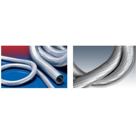 Stalowy wąż ssący / przewód techniczny super mocny 50 mm do 300 stopni c