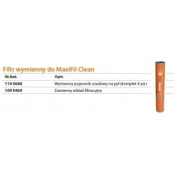 Komplet wymiennych pojemników osadowych na pył Maxifil Clean 1190688 - 4 sztuki