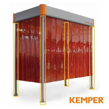 Komplet 2,5 metrowych podpór do okapu odciągowego Kemper VarioHood 70400301
