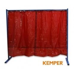 1-częściowa ścianka ochronna z zasłoną foliową Kemper czerwona 70 600 501