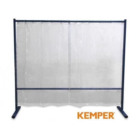 1-częściowa ścianka ochronna z zasłoną foliową Kemper przeźroczysta 70 600 502