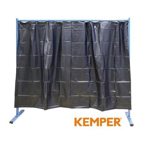 1-częściowa ścianka ochronna z zasłoną foliową Kemper S9 ciemnozielona 70 600 500