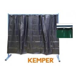 1-częściowa ścianka ochronna z zasłoną foliową Kemper S7 zielona 70 600 503