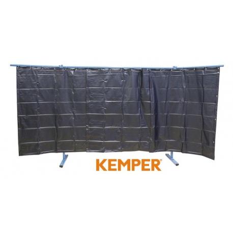 3-częściowa ścianka ochronna z zasłoną foliową Kemper S9 ciemnozielona 70 600 550