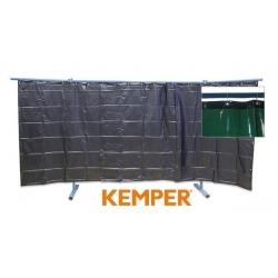 3-częściowa ścianka ochronna z zasłoną foliową Kemper S7 zielona 70 600 560