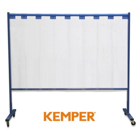 1-częściowa ścianka ochronna Kemper z lamelami 2mm przeźroczysta 70 600 604