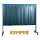 1-częściowa ścianka ochronna Kemper z lamelami 2mm S9 ciemnozielona 70 600 600