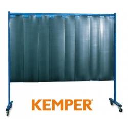 1-częściowa ścianka ochronna Kemper z lamelami 3mm S9 ciemnozielona 70 600 601