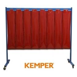 1-częściowa ścianka ochronna Kemper z lamelami 3mm czerwona 70 600 603