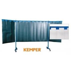 3-częściowa ścianka ochronna Kemper z lamelami 2mm przeźroczysta 70 600 654