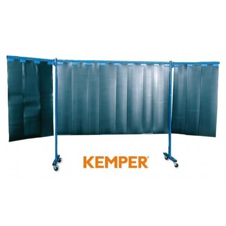 3-częściowa ścianka ochronna Kemper z lamelami 2mm S9 ciemnozielona 70 600 650