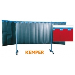 3-częściowa ścianka ochronna Kemper z lamelami 3mm czerwona 70 600 653