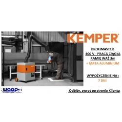 1 TYDZIEŃ WYPOŻYCZENIE Kemper Profimaster 3m ramię z wężem oraz matą aluminium