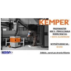 1 MIESIĄC WYPOŻYCZENIE Kemper Profimaster 3m ramię z wężem oraz matą aluminium